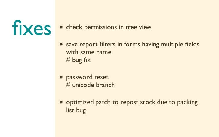 fixes   • check permissions in tree view       • save report filters in forms having multiple fields         with same name  ...
