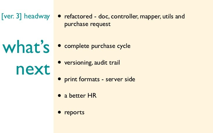 [ver. 3] headway   • refactored - doc, controller, mapper, utils and                     purchase requestwhat's           ...