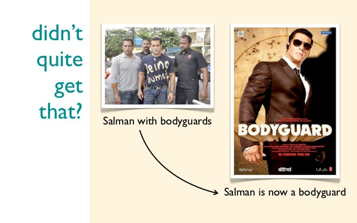 didn'tquite   get that?   Salman with bodyguards                                  Salman is now a bodyguard