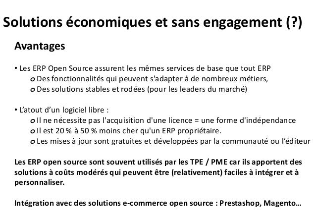 Quelques solutions ERP Open Source et prestataires en Aquitaine Slide 2