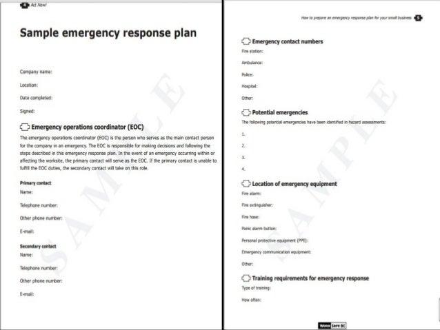 Osha Emergency Response Plan - Imagez co