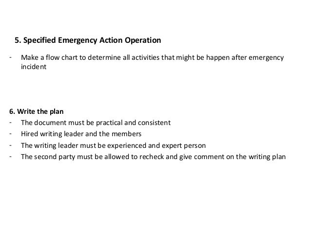 emergency action plan examples