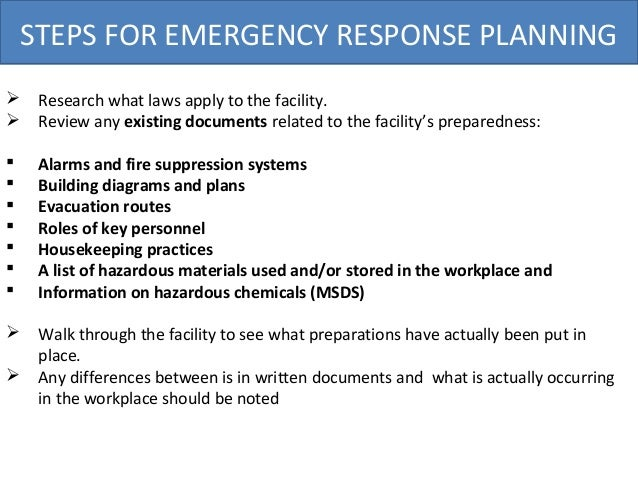 Osha Emergency Response Plan
