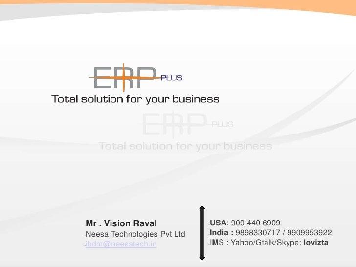 <ul><li>Mr . Vision Raval