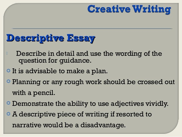 terms used in creative writing