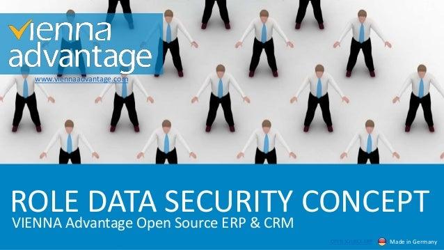 ROLE DATA SECURITY CONCEPT www.viennaadvantage.com Made in GermanyOPEN SOURCE ERP VIENNA Advantage Open Source ERP & CRM