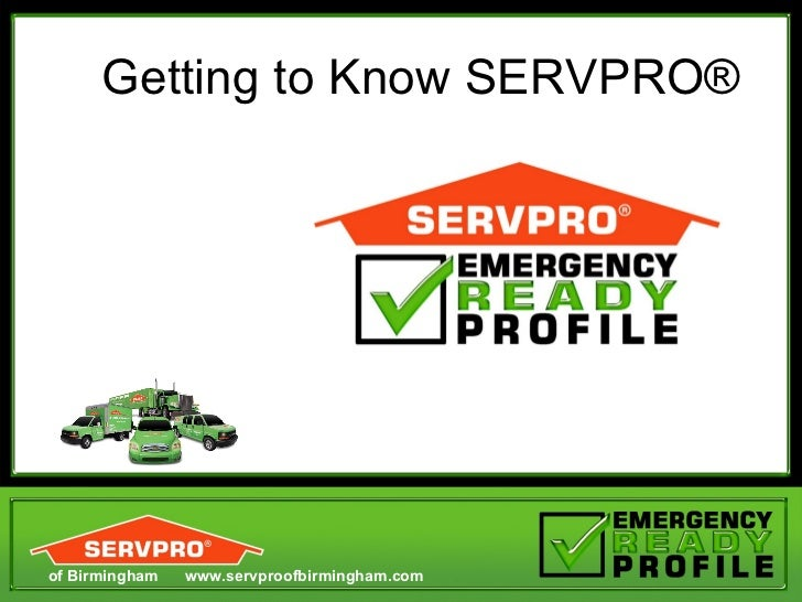 Getting to Know SERVPRO®