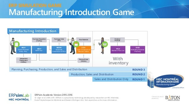 ERPsim : A serious game to learn enterprise systems and