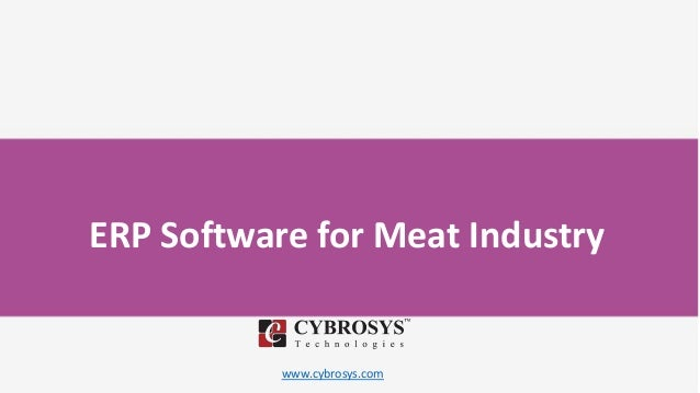 www.cybrosys.com ERP Software for Meat Industry