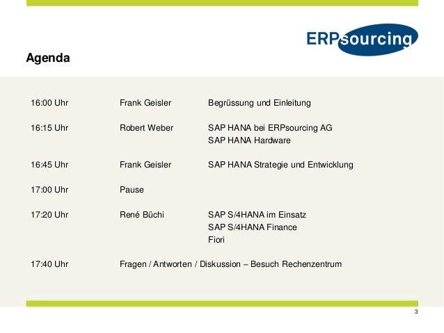 ERPsourcing SAP HANA Showcase Event Balsberg 2016-04-07 Slide 3