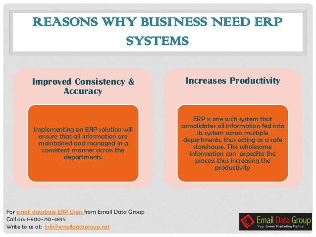 NEED of ERP in Large scale Companies- ERP Users List
