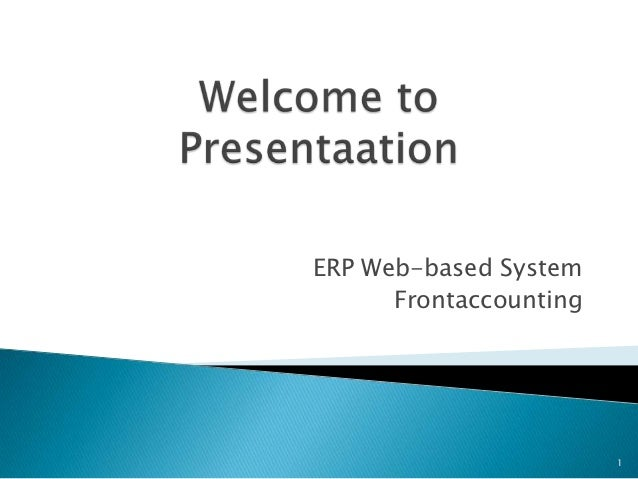 ERP Web-based System      Frontaccounting                        1
