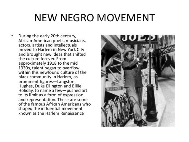 the creative ingenuity among blacks during the harlem renaissance The people, leisure, and culture of blacks during the harlem essaysit seems unfair that the pages of our history books or even the lecturers in majority of.