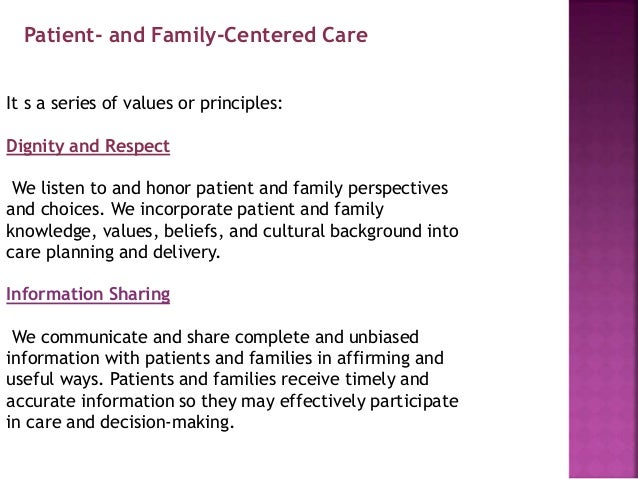 Definitive report on family centered treatment