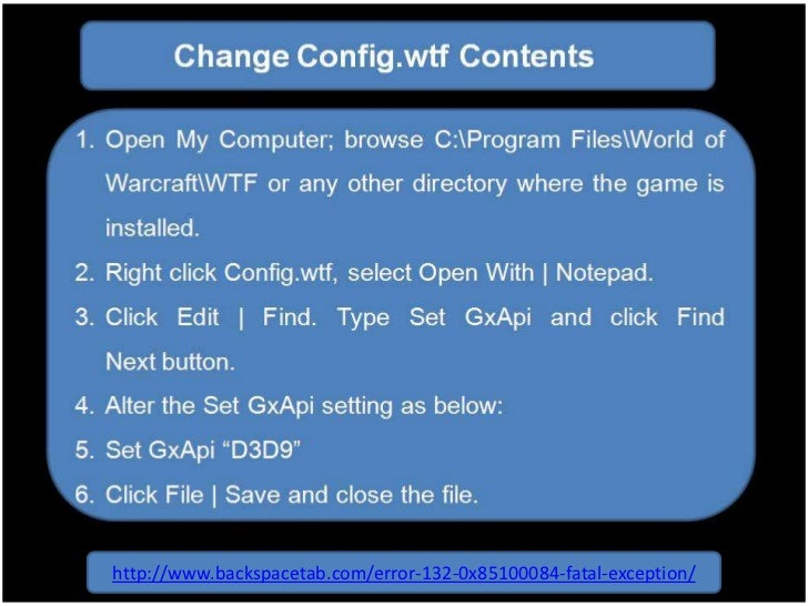 Fix WoW Error 132 Fatal Exception - Step By Step - TechSica