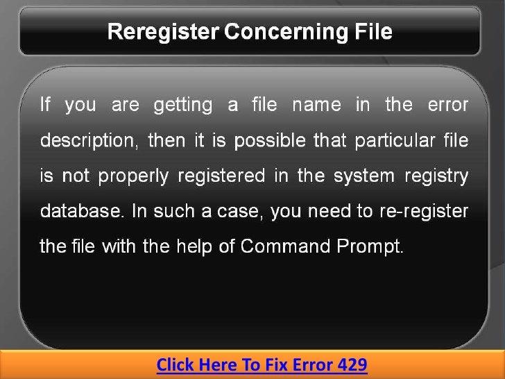 How To Fix Runtime Error 429   Windows Error Support