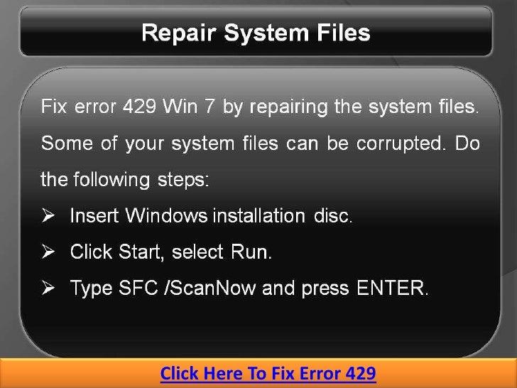 How to Fix Runtime Error 429 on Windows 10 PC
