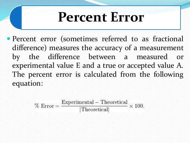how to use percentage difference