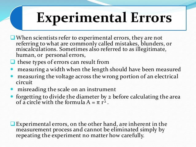 Physics Experimental Errors And Uncertainty Lab Homework Help