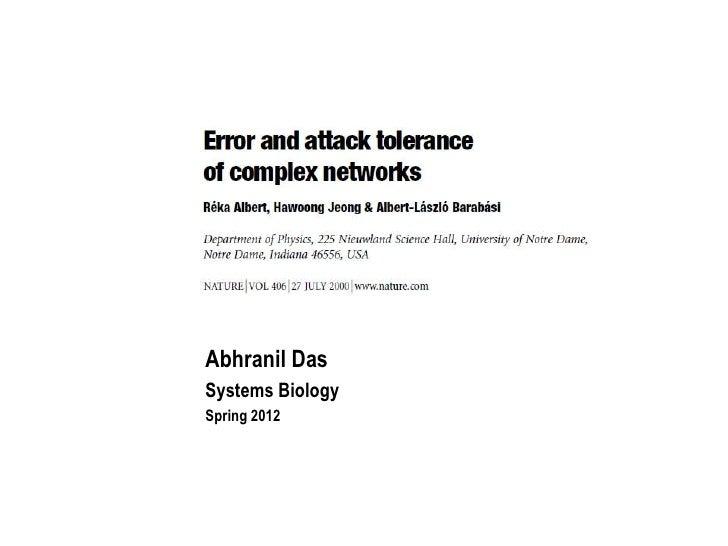 Abhranil DasSystems BiologySpring 2012