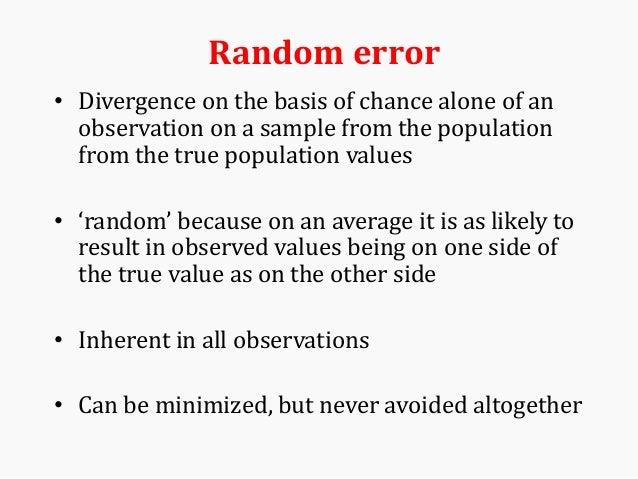 Error Bias And Confounding