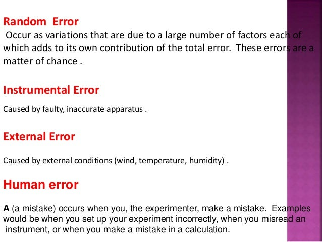 Error And Types