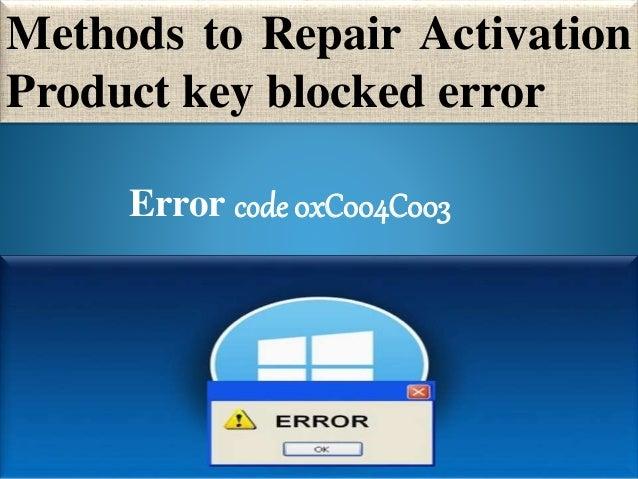 windows 8.1 product key error code 0xc004c003