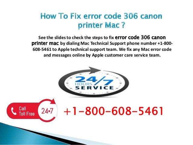 Error code 306 canon printer mac