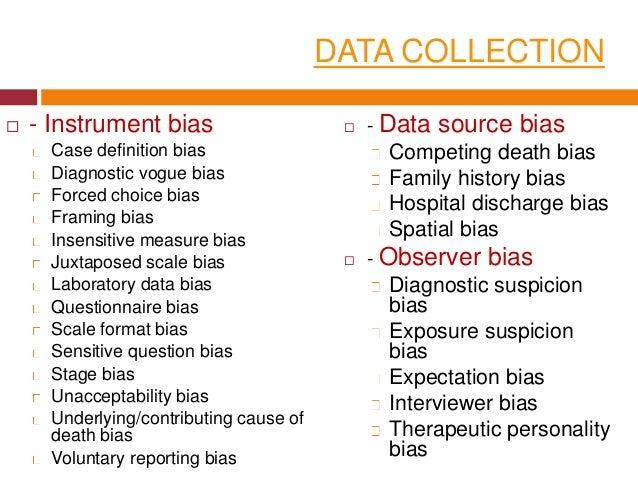 Error, confounding and bias