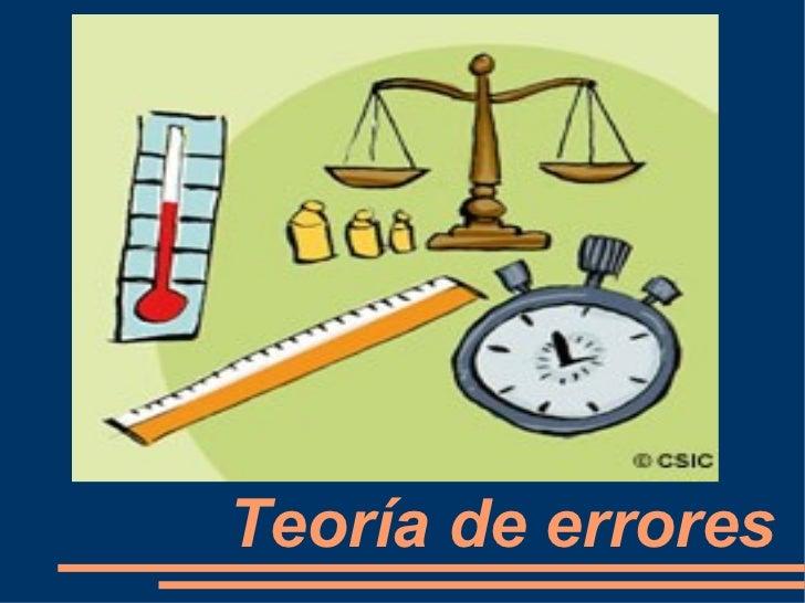 Resultado de imagen para TEORIA DE ERRORES