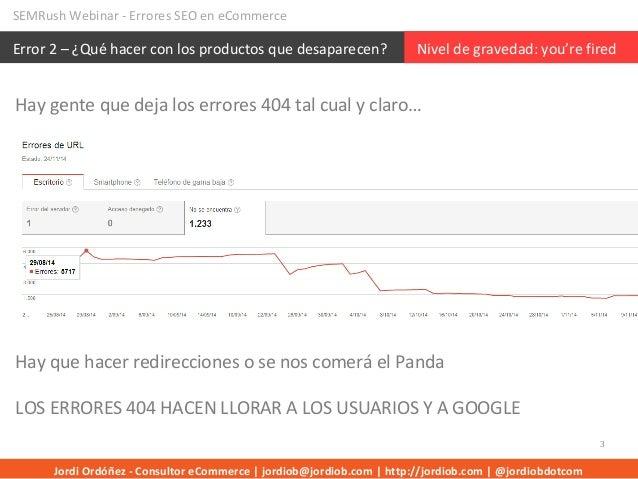 Errores SEO Ecommerce Slide 3