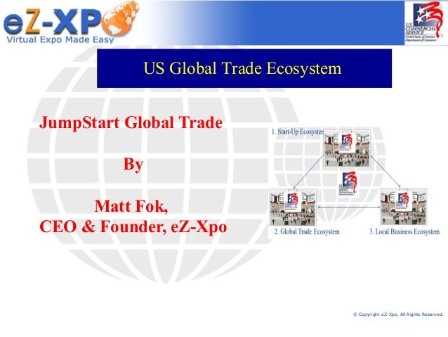 © Copyright eZ-Xpo, All Rights Reserved. JumpStart Global Trade By Matt Fok, CEO & Founder, eZ-Xpo US Global Trade Ecosyst...