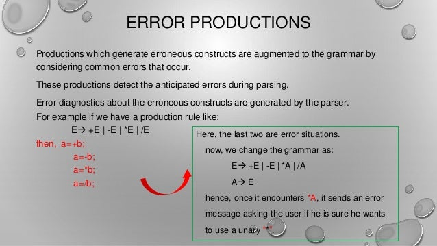 Error Recovery Strategies And Yacc Compiler Design