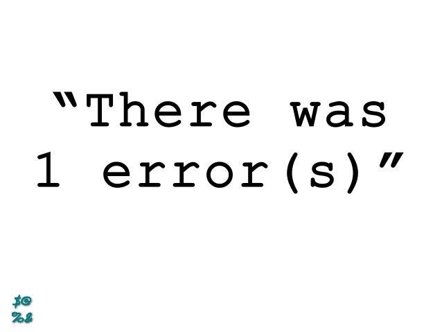 Error(s) Free Programming Slide 3