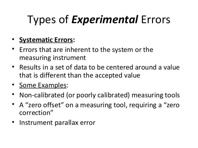 physics experimental errors and uncertainty lab Whole course items: error and uncertainty error and uncertainty all that any experimental procedure can do is to give a value for the result that we can say may be near the true value we can never say that we know the true result, only that we have a result that may lie within a range of uncertainty for example, as a.