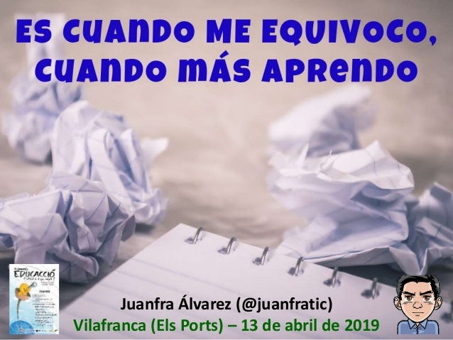 Juanfra Álvarez (@juanfratic) Vilafranca (Els Ports) – 13 de abril de 2019