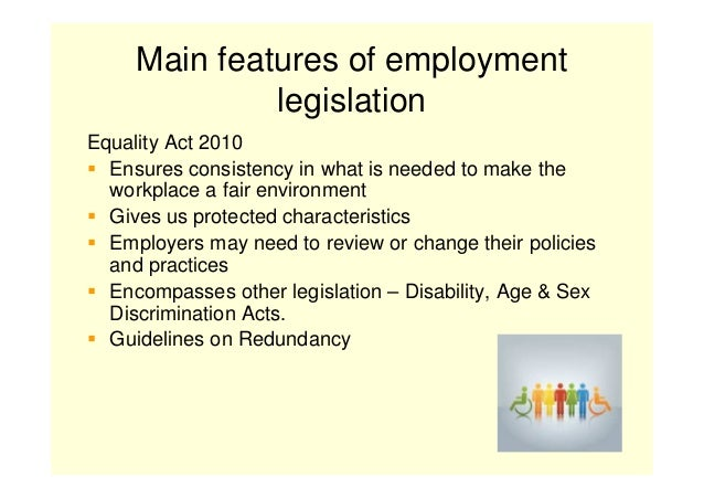 main features of legislation relating to health and safety The equality act 2010 the health and safety (first aid) regulations 1981 the regulatory reform (fire safety) order 2005 although these are the main pieces of legislation affecting health and safety in schools and colleges, other legislation may also be applicable where in doubt, further advice should be sought from atl.