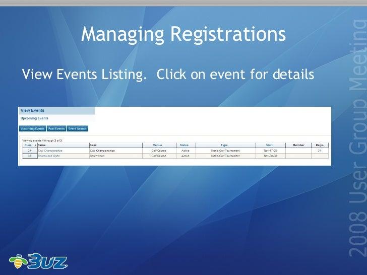 Buz Event Registration System