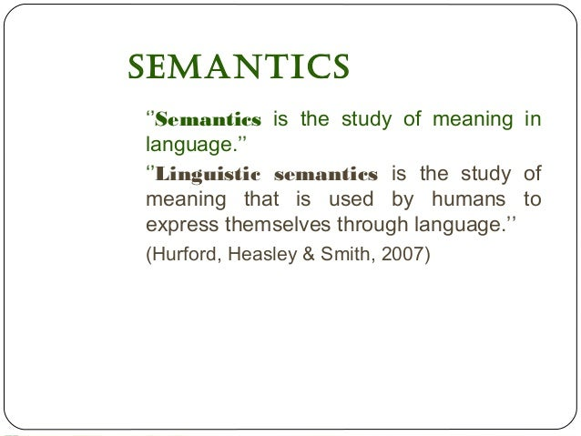 reference sense and referring expression in semantics