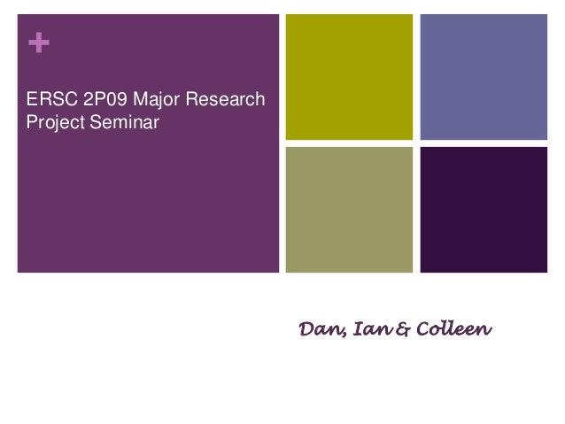 +ERSC 2P09 Major ResearchProject SeminarHappyPearl Jacobson, Science Librarian,Carleton University                        ...