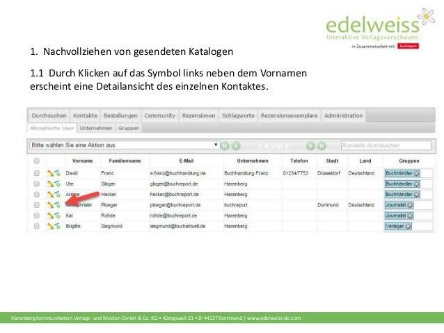 Harenberg Kommunikation Verlags- und Medien GmbH & Co. KG • Königswall 21 • D-44137 Dortmund   www.edelweiss-de.com 1. Nac...