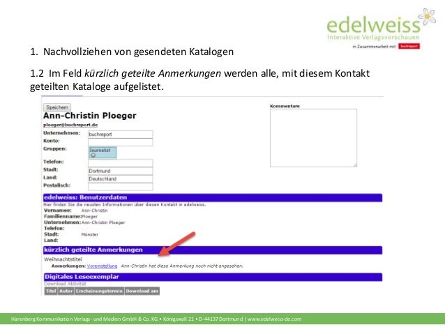 Harenberg Kommunikation Verlags- und Medien GmbH & Co. KG • Königswall 21 • D-44137 Dortmund   www.edelweiss-de.com 1.2 Im...