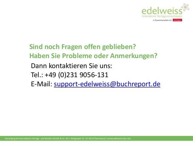 Harenberg Kommunikation Verlags- und Medien GmbH & Co. KG • Königswall 21 • D-44137 Dortmund   www.edelweiss-de.com Sind n...