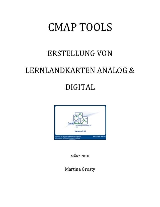 CMAP TOOLS ERSTELLUNG VON LERNLANDKARTEN ANALOG & DIGITAL MÄRZ 2018 Martina Grosty