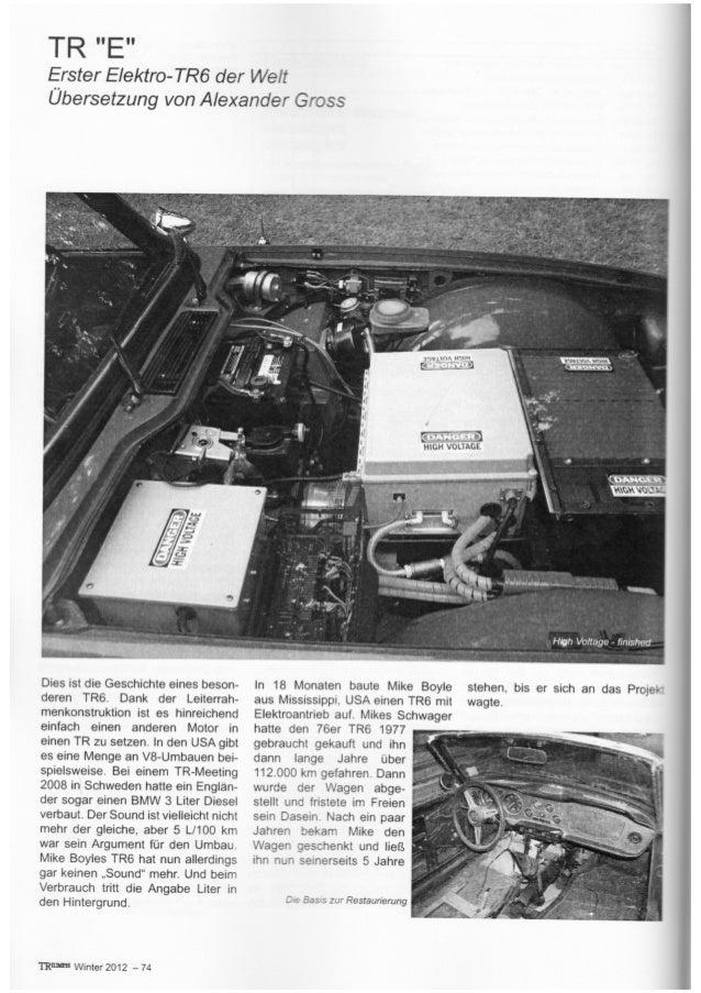 Erster Elektro Triumph TR6