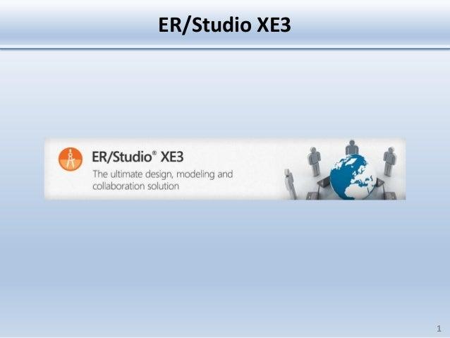 ER/Studio XE3                1