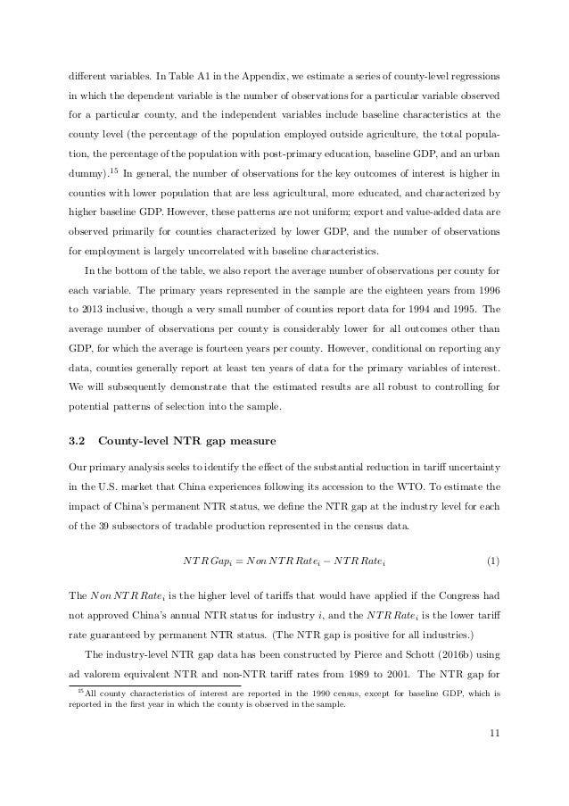 aggregate effect of chinas wto accession essay Wto subsidy rules and tariff liberalization: evidence from china's accession to the wto was practices of member countries can have an unintended effect of.