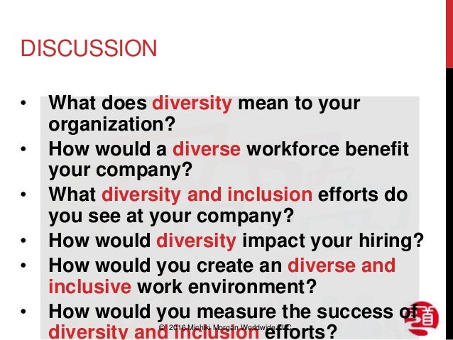 impact of workforce diversity on organization