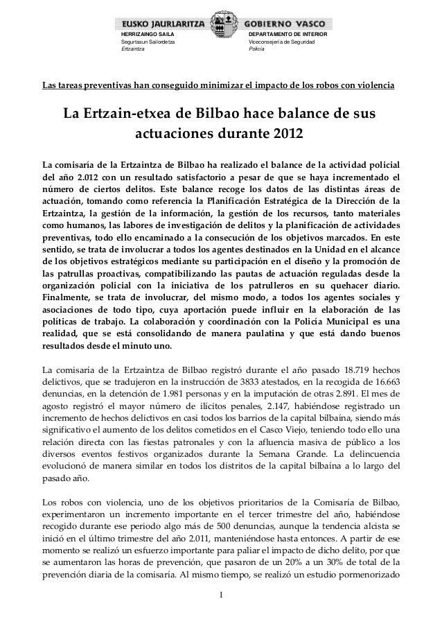 HERRIZAINGO SAILA                     DEPARTAMENTO DE INTERIOR                      Segurtasun Sailordetza                ...
