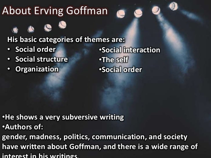 Erving Goffman Dramaturgical Approach Presentation